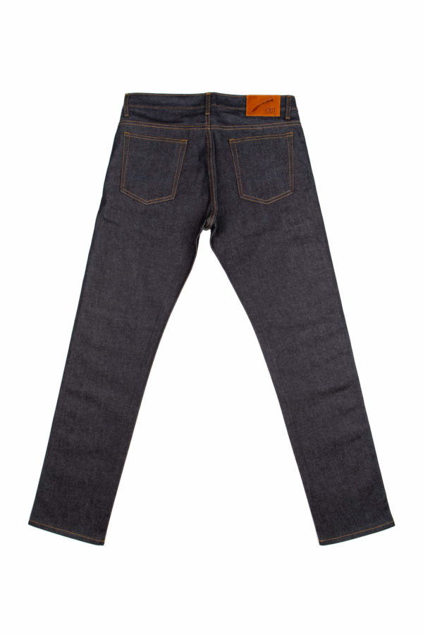 13.5 Oz Brooks Slim Fit Jeans Back
