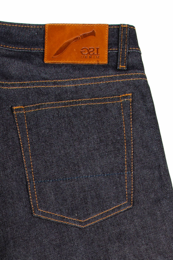 13.5 Oz Brooks Jeans Leather Patch