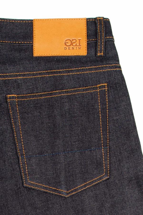 13.75 Oz Brampton Jeans Leather Patch