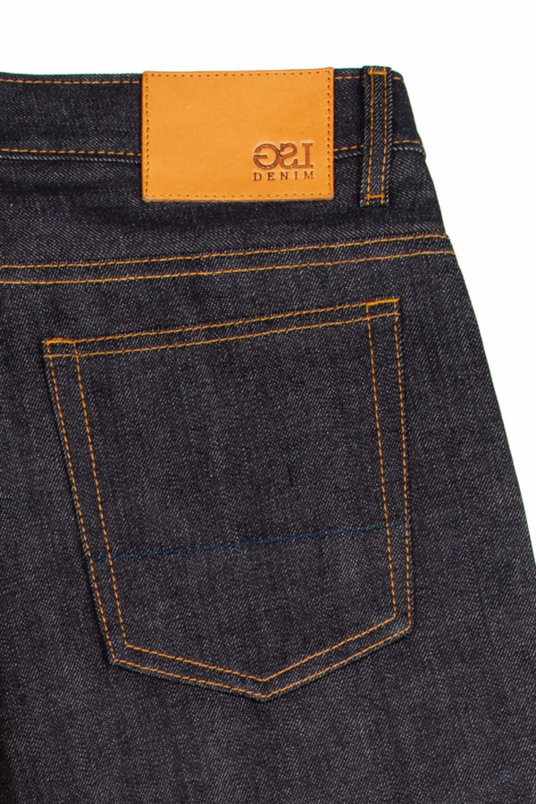 13.75 oz Brook Slim Fit Jeans Leather Patch