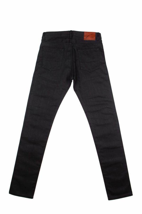 13.4 oz Black Brooks Slim Fit Jeans Back