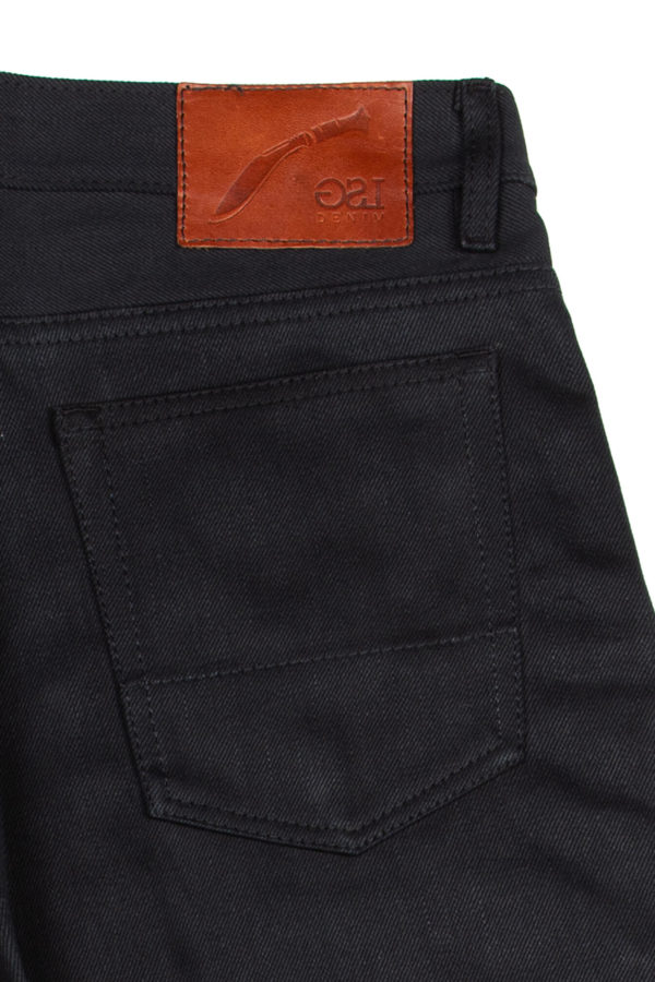 13.4 oz Brunswick Straight Fit Jeans Leather Patch