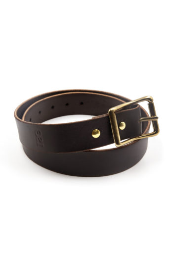 Dark Brown English Bridle Leather Belt