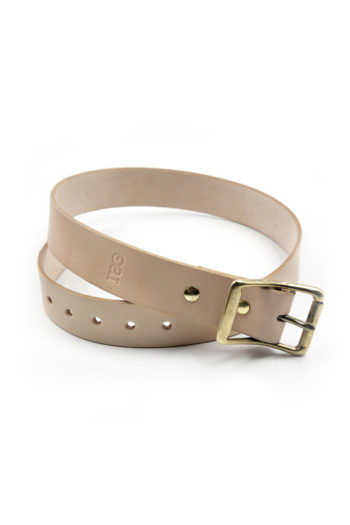 Natural Veg Tan Leather Belt