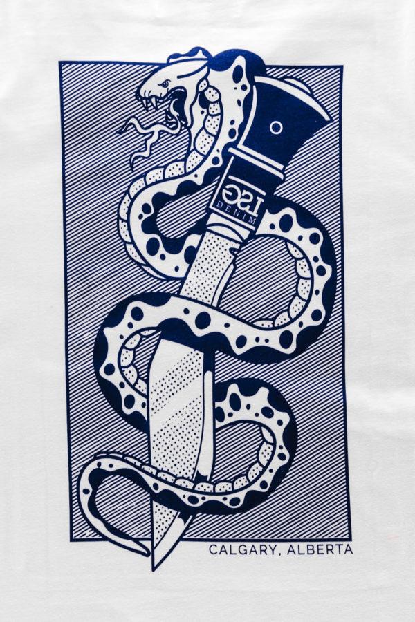 Snake & Dagger Tshirt Art